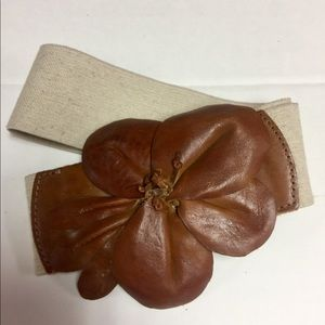 Leather flower belt from Anthropologie